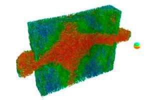 Die Röntgen CT-Aufnahme eines Kunststoffs